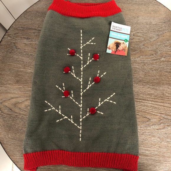 NWT Martha Stewart Dog Sweater